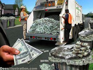 Bani adevarati, sau gunoi ca datorie?
