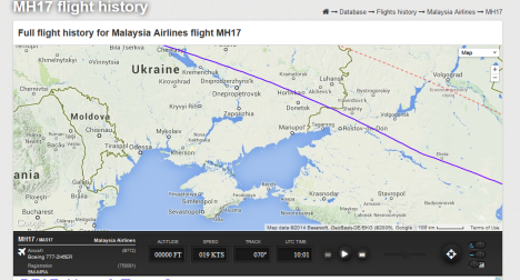 MH17-16 Iulie_Flightradar24
