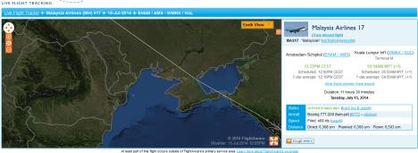 MH17_15 July_Flightaware