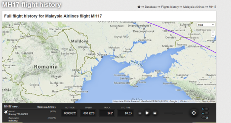 MH17_15 July_Flightradar24