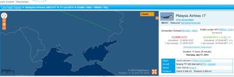 MH17_17 July_Flightaware